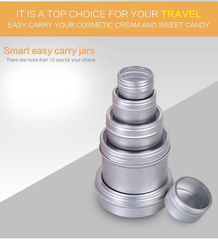 Aluminum Clear PVC window Jars, Aluminum Window Cans for Tea and cream Package