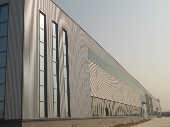 Modern steel structure workshop