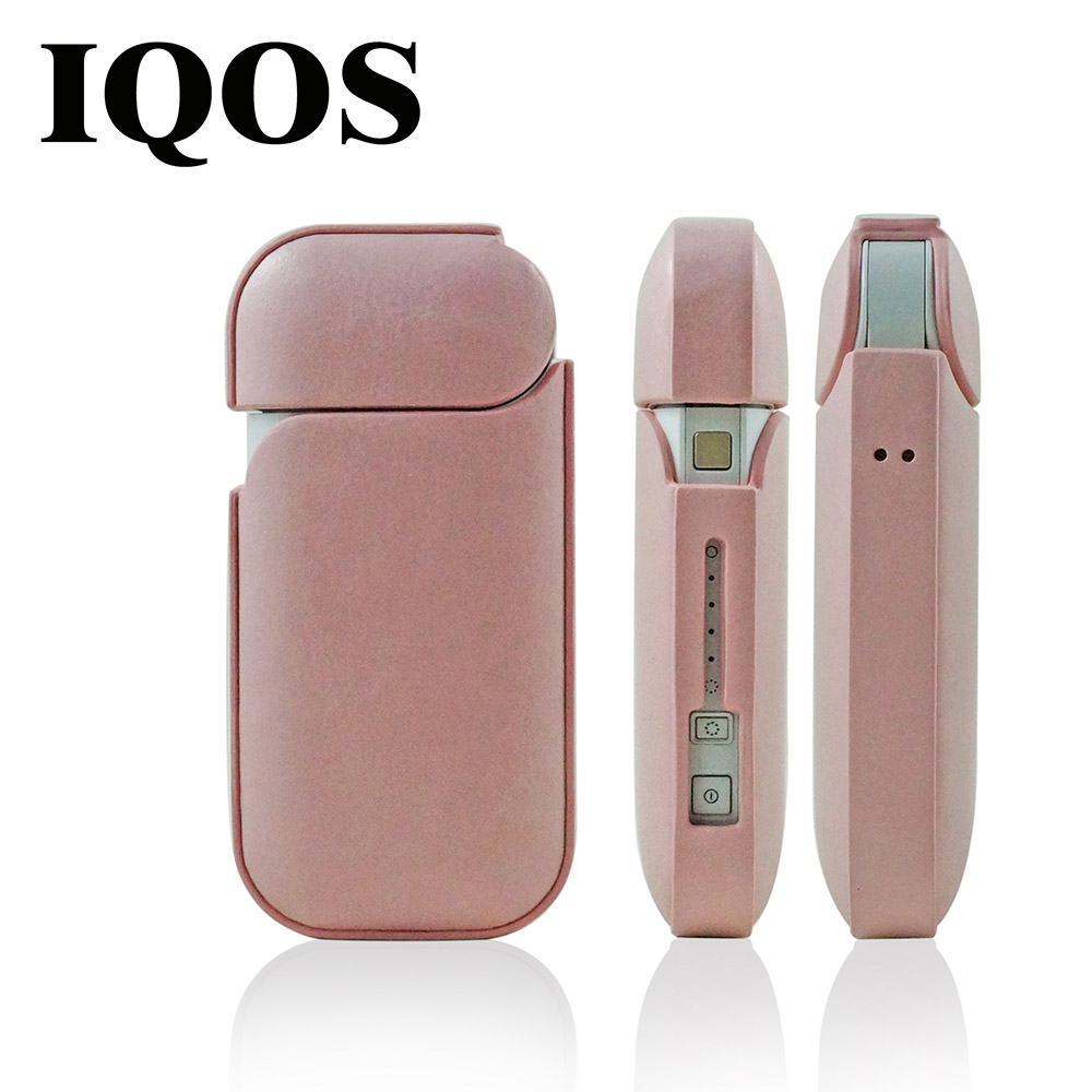 Beauty Pink PU IQOS Case Cover Waterproof Hole Silicone Electronic Cigarette Case