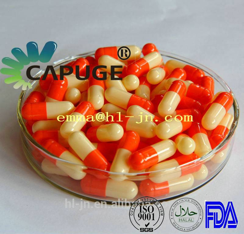 High Quality Colored Empty Hard Gelatin Capsules Two-piece Color