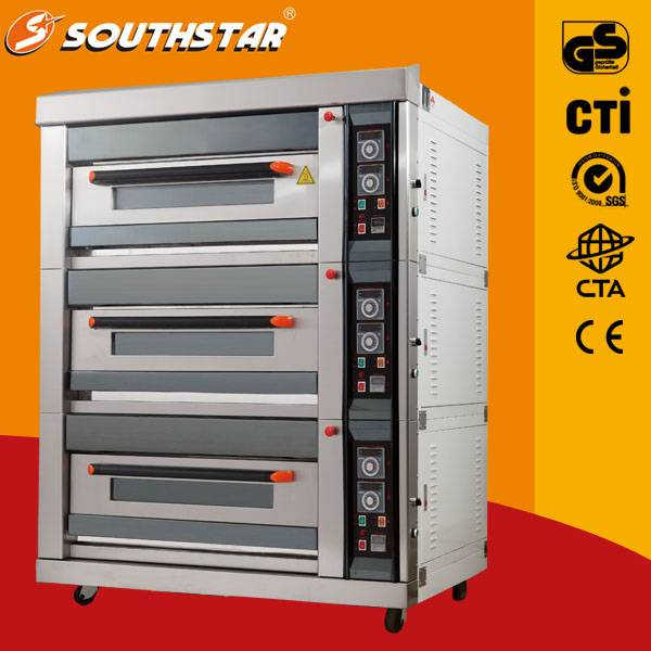 Luxury gas oven with 9 trays for bread good price