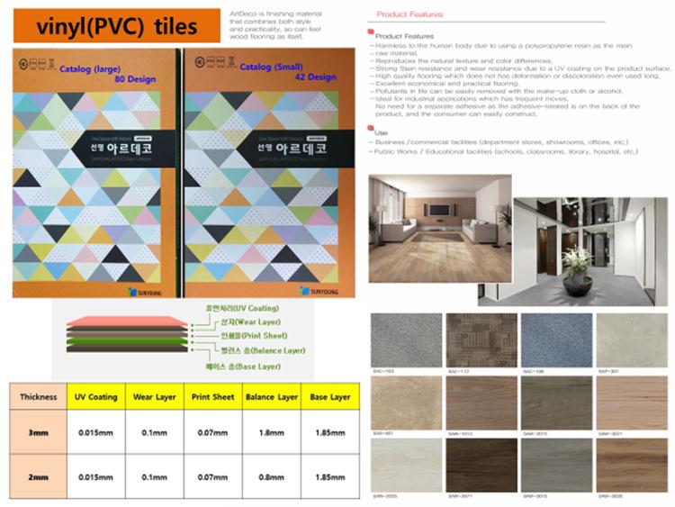 Vinyl(PVC, LVT) tile & VCT Tile & Vinyl flooring