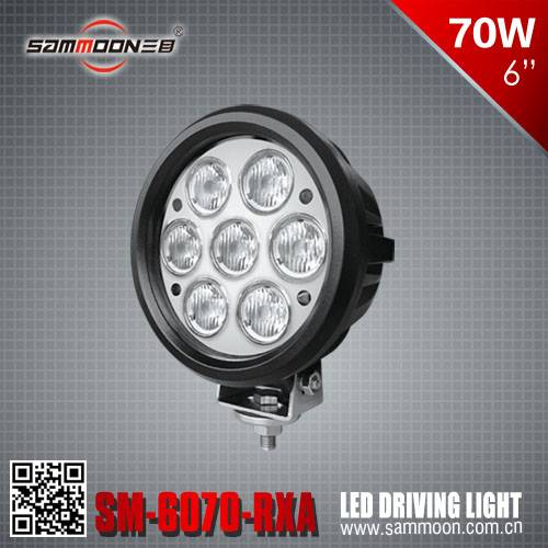 6 Inch 70W Round LED Driving Light cree led chips