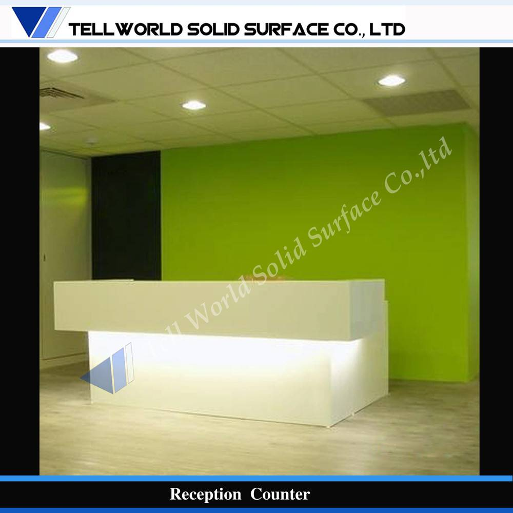 Modern commercial acrylic reception counter
