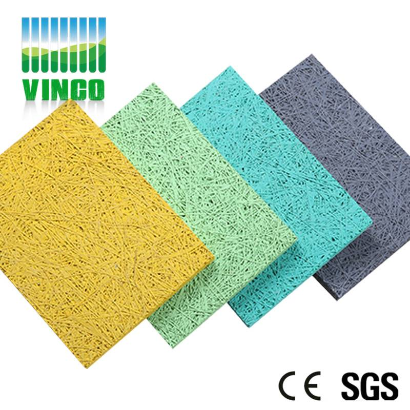 ceiling soundproofing panel pure wood wool wooden-wool acoustic panel