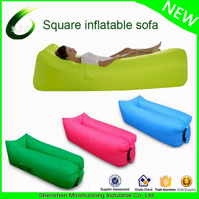 Portable air inflatable sofa bed beach lazy sleeping bag air lounge
