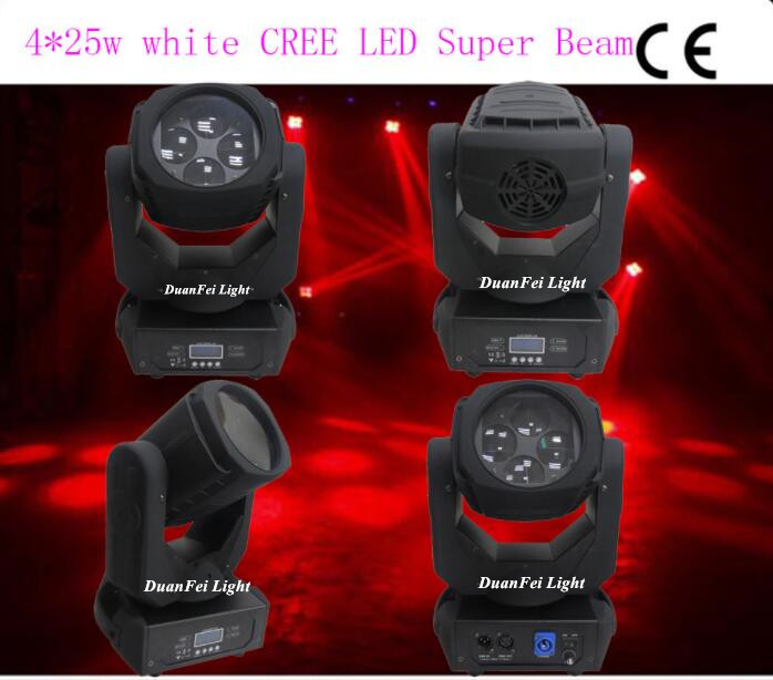 4x25W Super Beam 4 Moving Head Light for DJ disco party event effect Equipmen