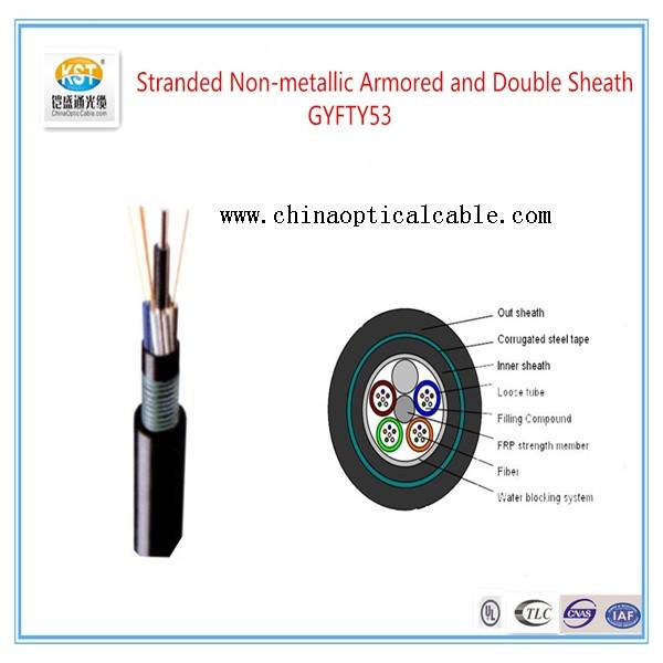 Armored and Double Sheathed Outdoor Cable   GYTY53