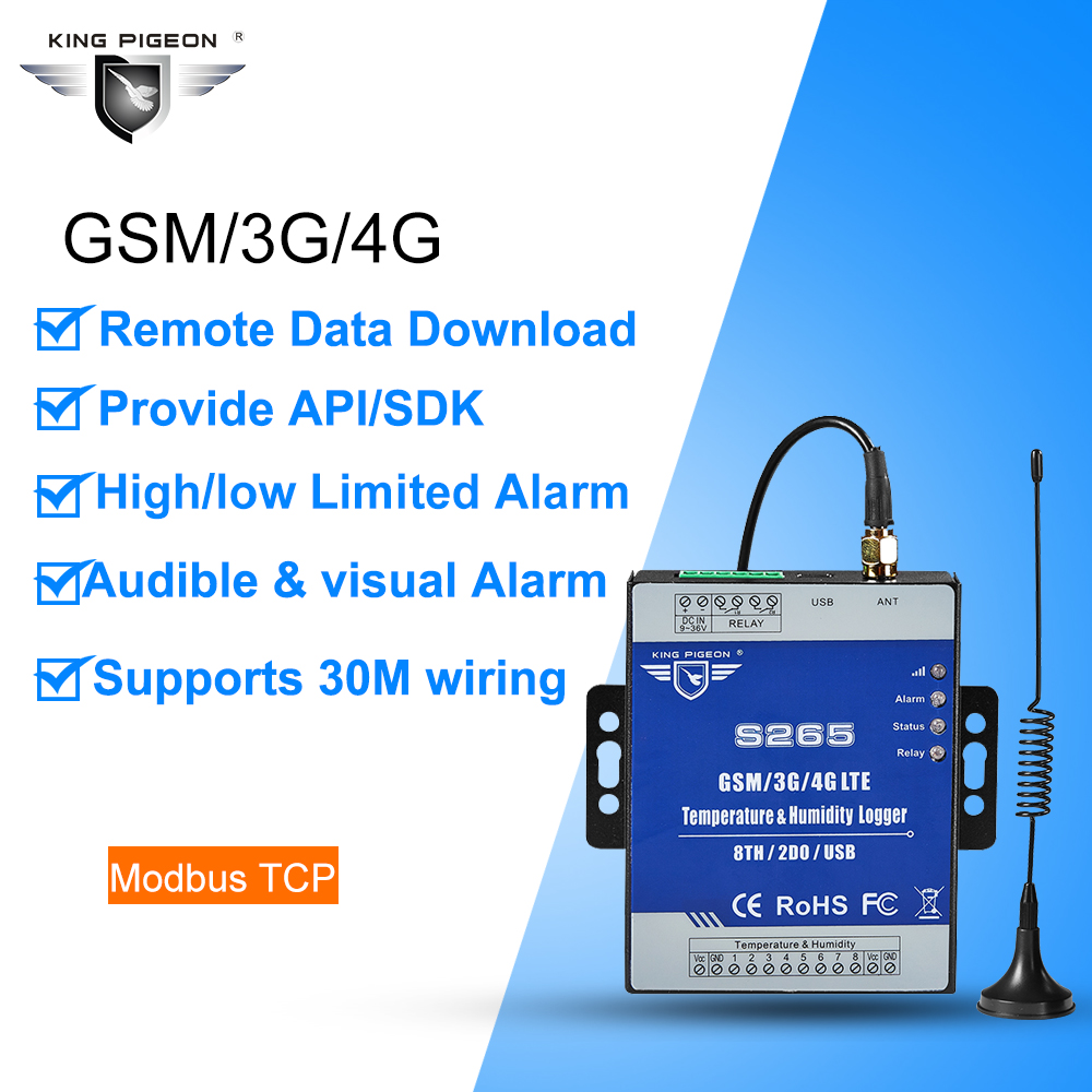 Cellular temperature and humidity monitoring alarm for remote industrial site and agricultural IoT