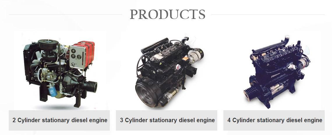 Fixed power 2 cylinder 3 cylinder 4 cylinder diesel engines