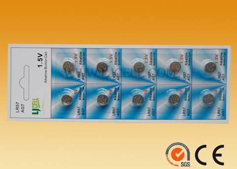 1.5V Alkaline manganese dioxide button cell LR927 33mah