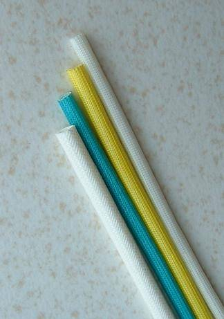 Fiberglass sleeving coated with polyvinyl chloride
