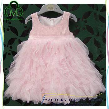 Wholesale Cute Pink Girls Dresses Sequined Evening Dress