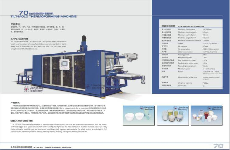 LC70 Tilt-mold Thermoforming Machine