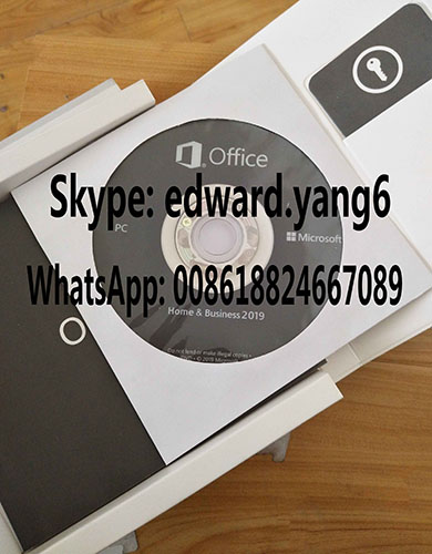 office 2019 home and business Original License Key Code Coa Sticker & DVD& Sealed Packing Box