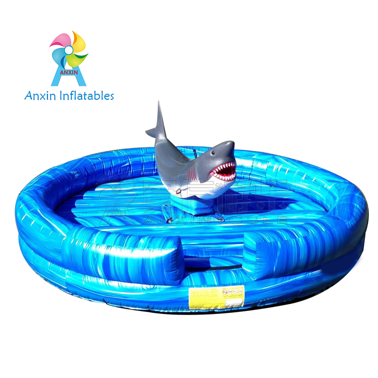 INFLATABLE MECHANICAL SHARK RIDE GAME FOR CLUB, MALL AND PLAYGROUND GAMES FOR ADULT AND KIDS