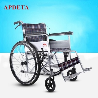 Hot sale steel portable wheelchair folding manual wheelchair for disabled