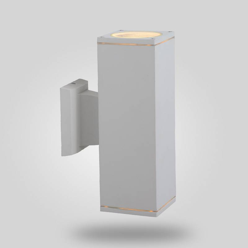 square wall light, up and down light, IP54, CE VDE SAA approved, aluminum housing with tempered glas