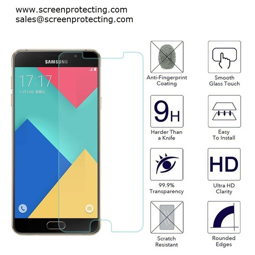 2.5D Screen Guard Screen Shield 9H Premium Tempered Glass Screen Protector for Samsung Galaxy A9