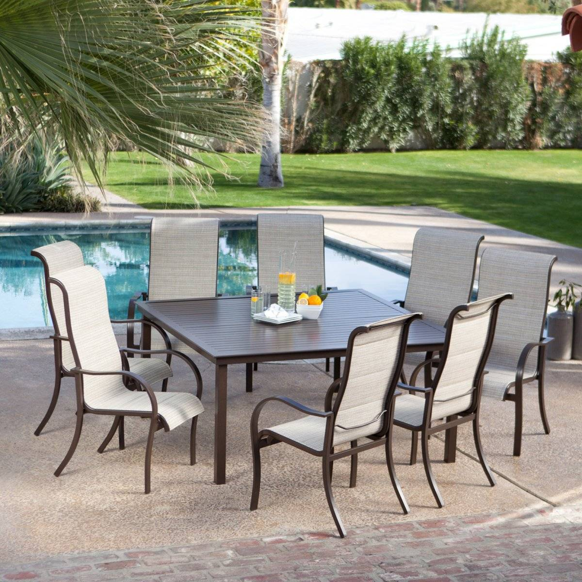 outdoor garden  furniture sling table and chair