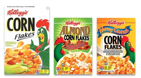 Kellogg's Corn Flakes machine