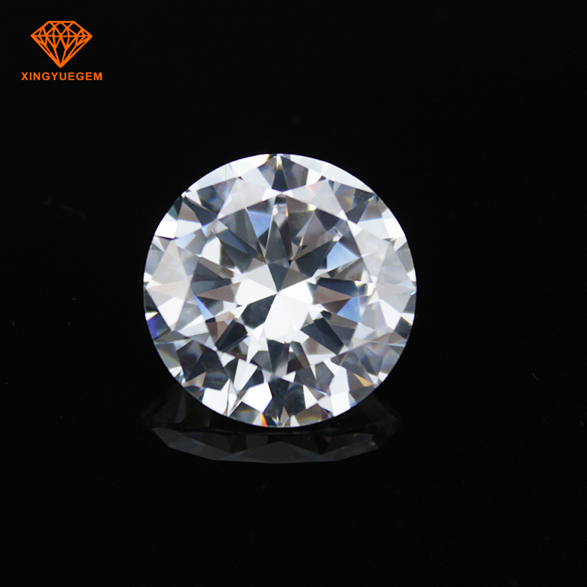 Hot sale 8 hearts & 8 arrows white loose star cut zircon stone