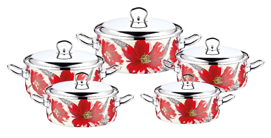 Non Stick Cookware Set (Ceramic and Enameled)