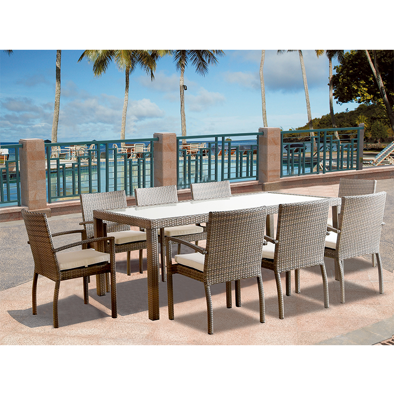hormel furniture patio wicker modern furniture set outdoor chair and rattan long narrow dining table