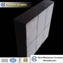 Shock resistant rubber backed ceramic wear liner for industrial maintenance