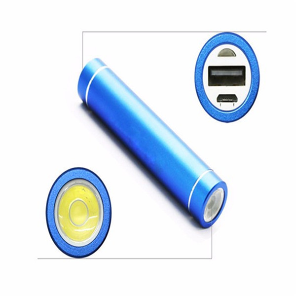 Promotional cylinder battery charger with LED light