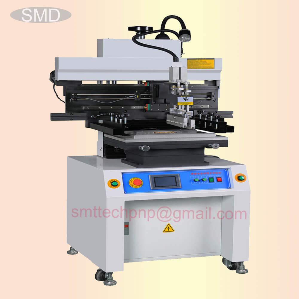 semi auto SMT solder paste printer machine