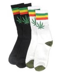 Men9s / men Leaf Pattern skater socks 16 species