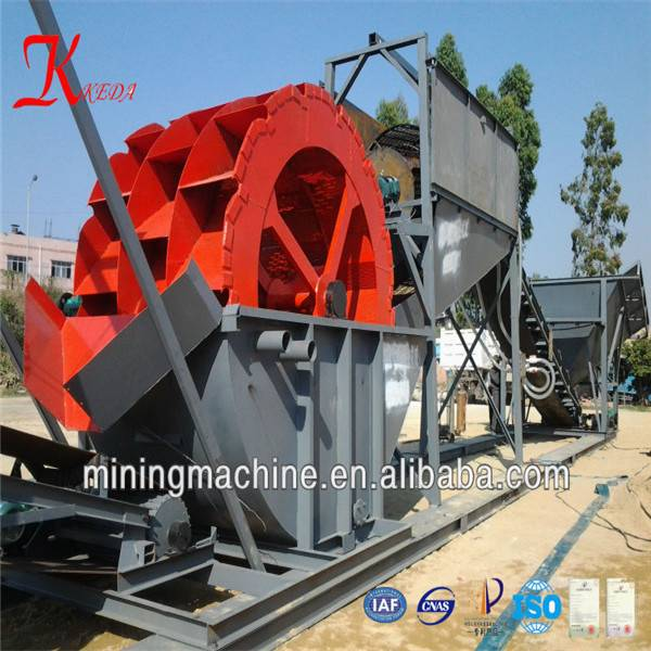 Mobile sand washer machine