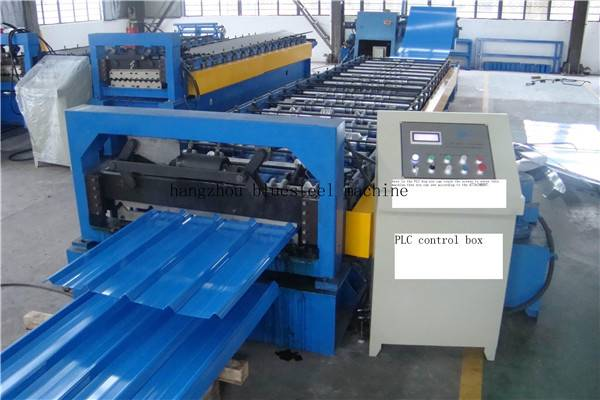trapezoidal roof sheet roll forming machine/ metal roofing sheet making machine