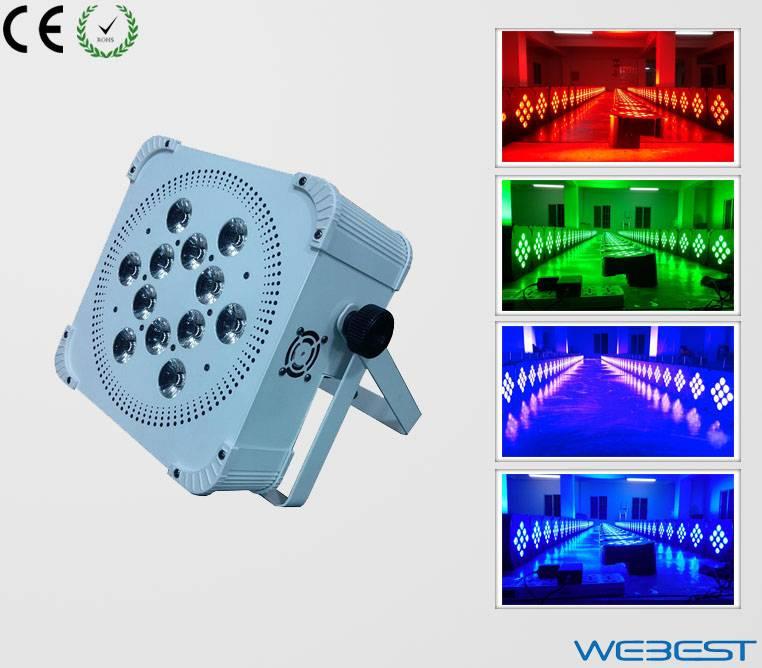 12 Lens RGBW Four Color 4W 4in1 Rechargeable Wireless DMX LED Par Light