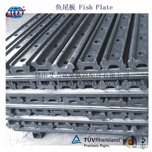 6 Hole UIC54 UIC60 Railway Fishplate / Rail Joint Bar