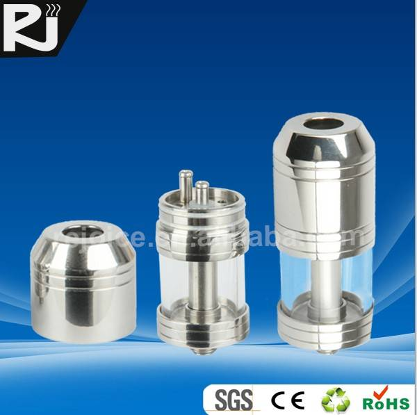 SAU1,Glass Clone cloutank storage atomizer for electronic cigarette,stainless steel & galss, easy DI