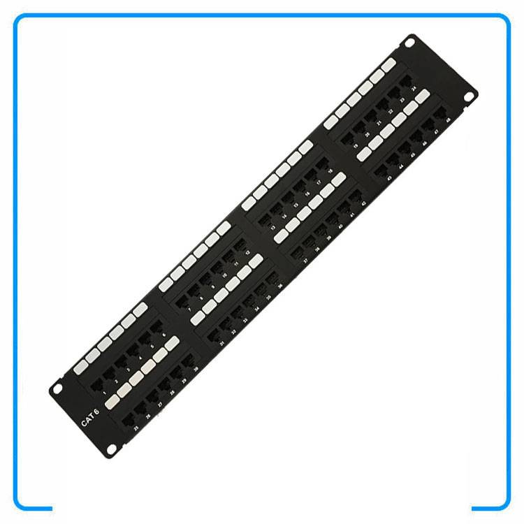19Inch 2U 48 Port STP Shielded Cat6 NetWork Patch Panel