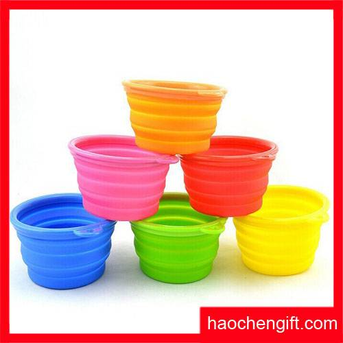 Silicone Foldable Dog Cat Pet Bowl
