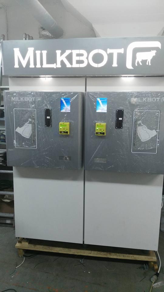 Milk vending machine Milkbot 400i Double Dispenser
