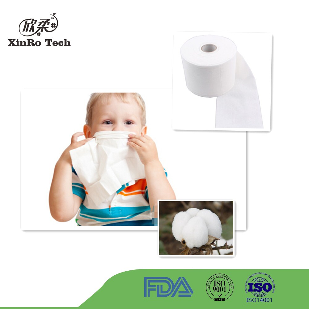 100% Cotton spunlace nonwoven fabric for wet wipe
