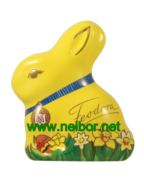 little bunny tin rabbit tin Easter holiday tin