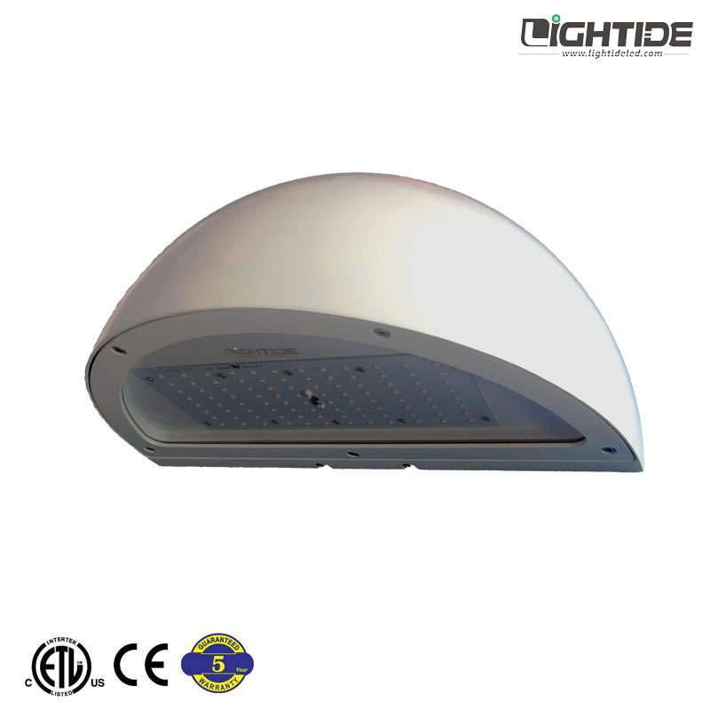 Lightide Quatersphere Outdoor LED Wall Pack Lights Commercial 40-120 Watts White, 100-277vac,