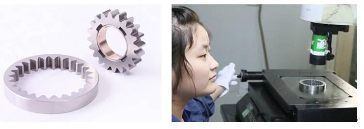Powder metallurgy gears for oil pump