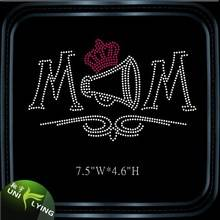 Custom Crown Mom Cheer Rhinestone Transfer