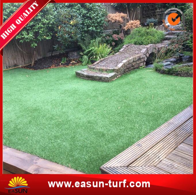 Free sample cheap green artificial grass carpet for garden decoration-AL