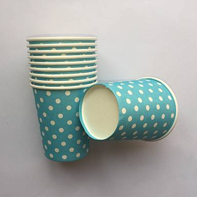 Wholesale colorful custom Purple Polka Dot Paper Cups