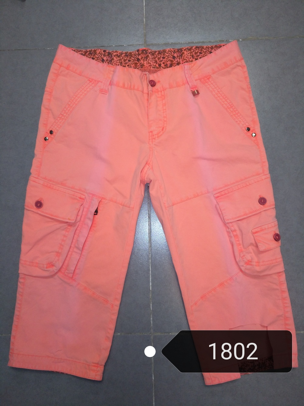 women new style fashion short six pocket 1802