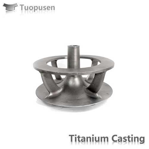 TPS titanium lost wax casting parts titanium impeller Gr2 corrosion resistance