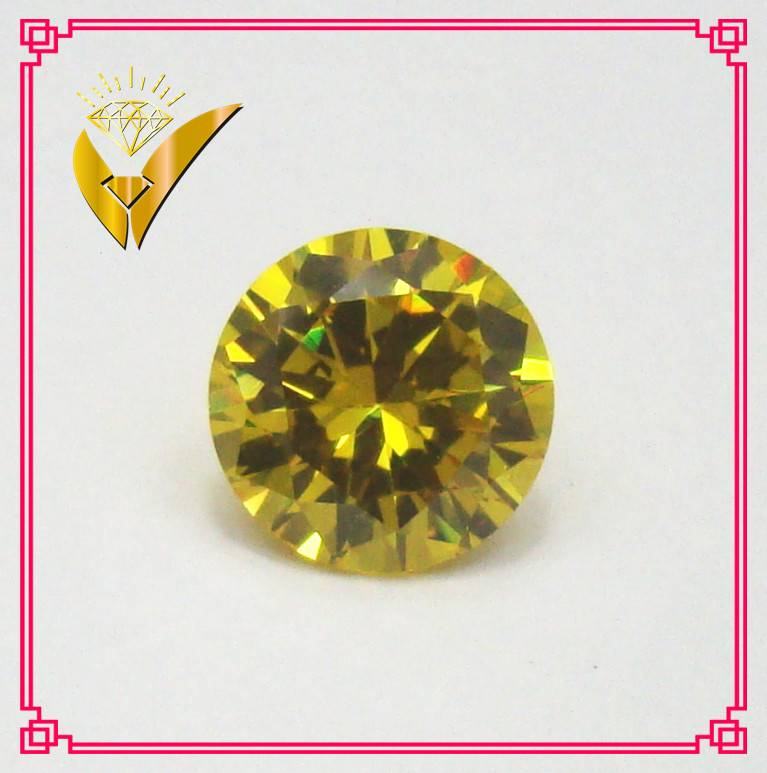 yellow round shaped zircon stones